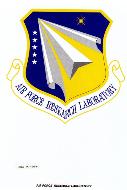 Air Force Organizational Emblem: Air Force Research Laboratory, Air Force Material Command Exact Date Shot Unknown