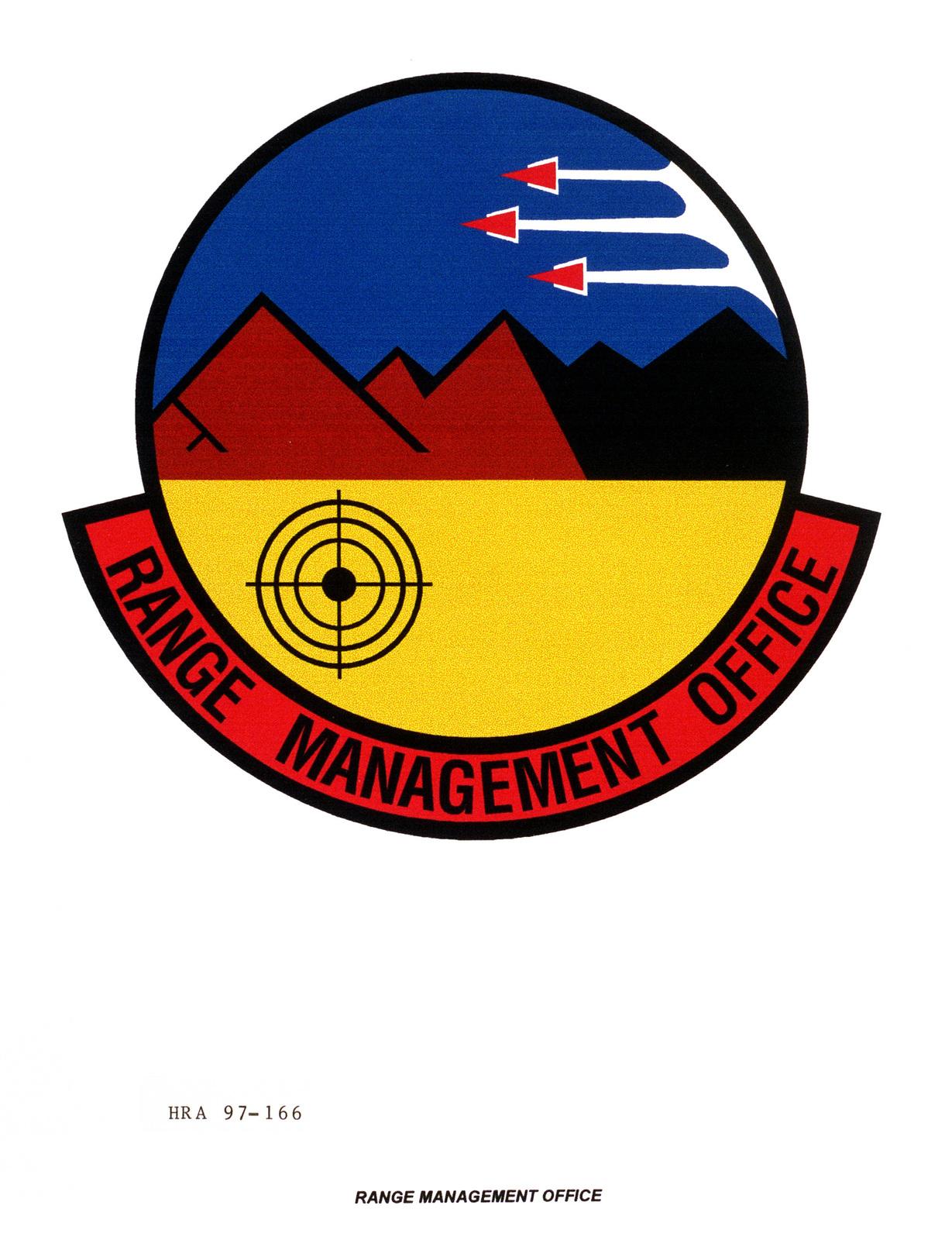 Air Force Organizational Emblem: Range Management Office, Air Combat Command