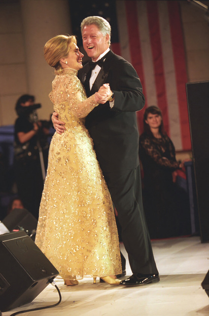 Photograph of President William Jefferson Clinton and First Lady Hillary Rodham Clinton Dancing at the Tennessee Inaugural Ball in Washington, DC