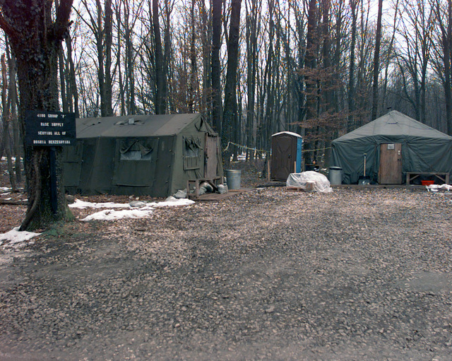 The 4100 Group (Provisional) supply complex provide all needed materials for Tuzla Air Base in support of Operation JOINT GUARD. On December 20, 1996, the Implementation Force (IFOR) mission came to a conclusion and the 1ST Infantry Division was selected to continue serving in Bosnia as part of the new Stabilization Force (SFOR). This decision brought to close the peace mission of Operation JOINT ENDEAVOR and has been the beginning for the current operation known as Operation JOINT GUARD. JOINT GUARD will continue to monitor the militaries of the former warring factions and provide a climate of stability