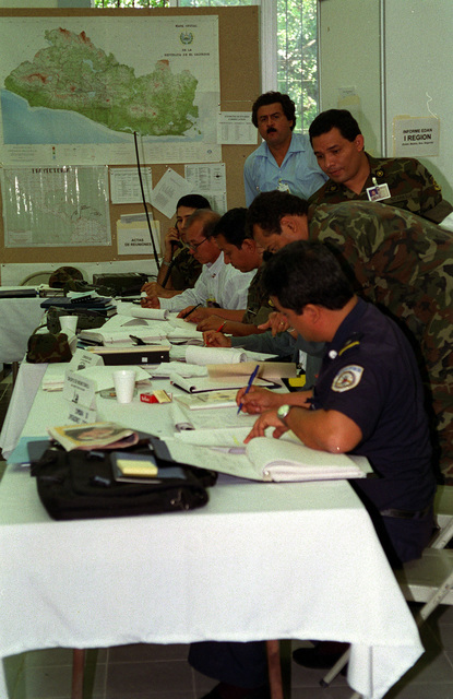 Military and civilian groups, representing several Central American countries, learn to work together and assist each other in potentially disastrous situations such as hurricanes or earthquakes