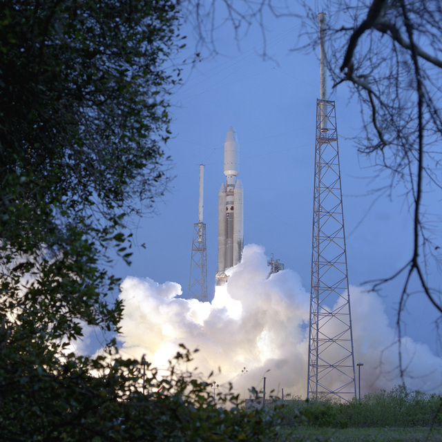 The Air Force and Lockheed Martin successfully launches a TITAN IV/B-24 carrying a Defense Support Program Satellite from Launch CX-40 today at 3:20 P.M. (EST). This marks the 1ST TITAN IV and the 1ST B model rocket launched from Cape Canaveral this year