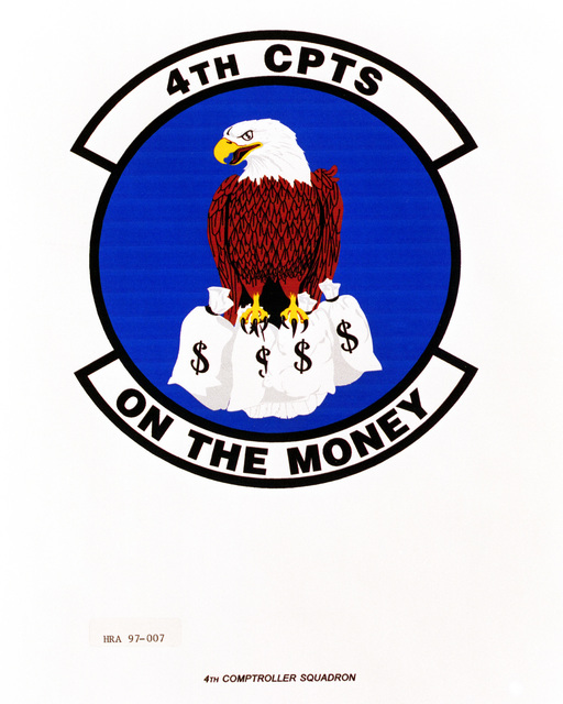 Air Force Organizational Emblem: 4th Comptroller Squadron, Air Combat Command (ACC ) Exact Date Shot Unknown
