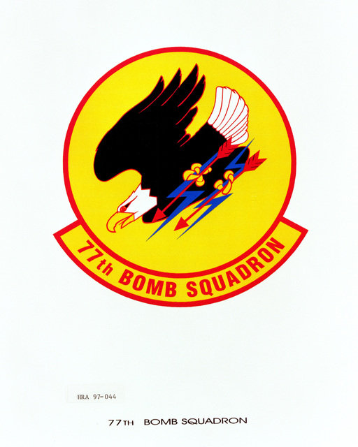 Air Force Organizational Emblem: 77th Bomb Squadron, Air Combat Command (ACC ) Exact Date Shot Unknown