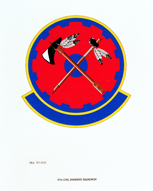 Air Force Organizational Emblem: 97th Civil Engineer Squadron, Air Education and Training Command (AETC ) Exact Date Shot Unknown
