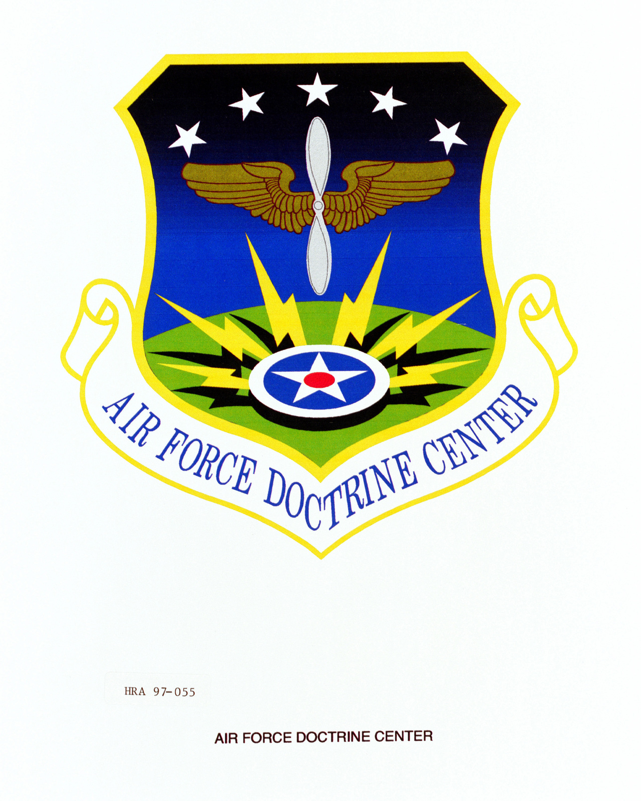 Air Force Organizational Emblem: Air Force Doctrine Center, Direct Reporting Unit (DRU ) Exact Date Shot Unknown