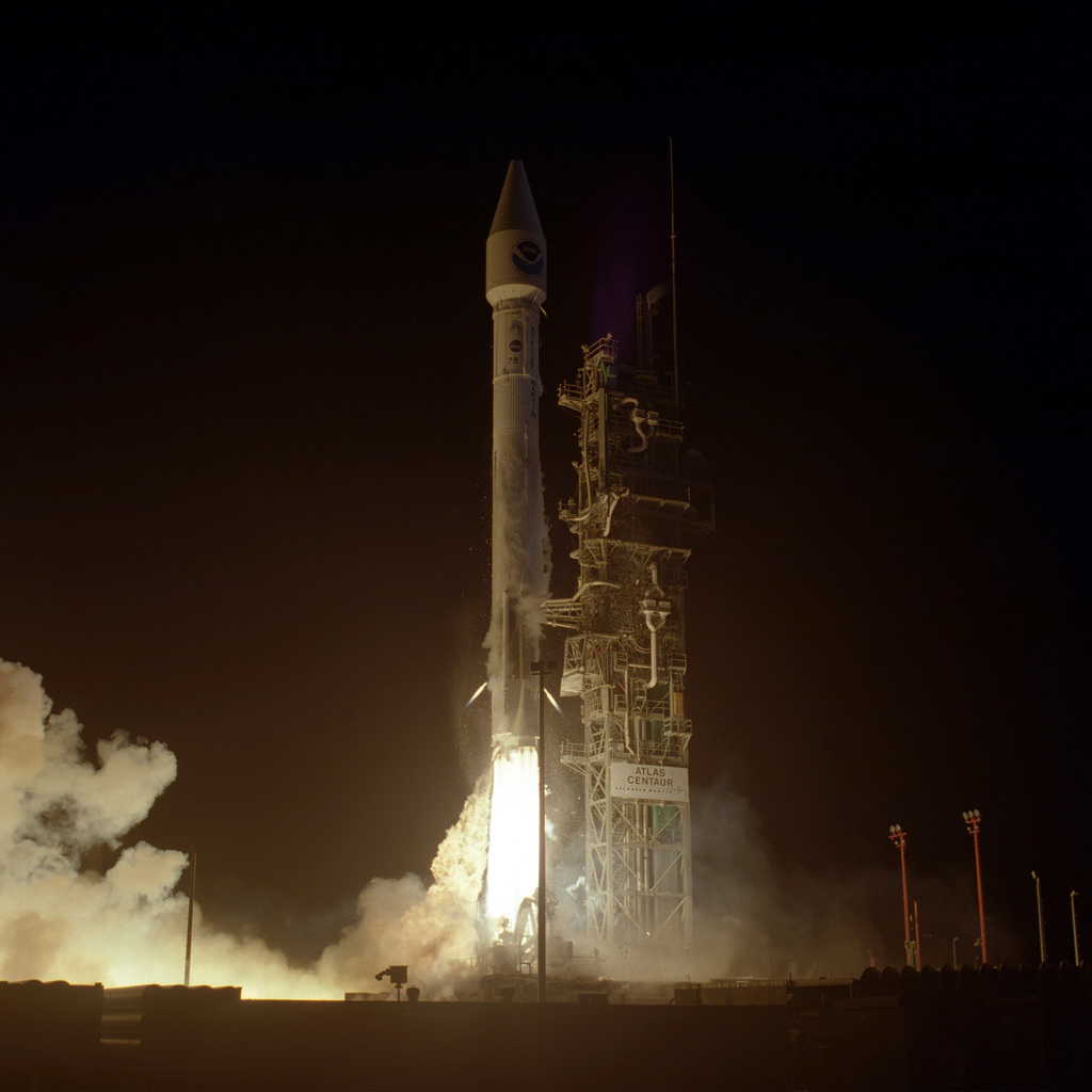 A Lockheed Martin Atlas I (AC-79) successfully launched the Geostationary-orbiting Operational Environmental Satellite-K (GOES-K) weather satellite, built by Space Systems/Loral of Palo Alto, California, for the National Oceanic and Atmospheric Administration (NOAA). Once in orbit, GOES-K will be renamed GOES-10. The launch took place at 1:49 A.M. EDT
