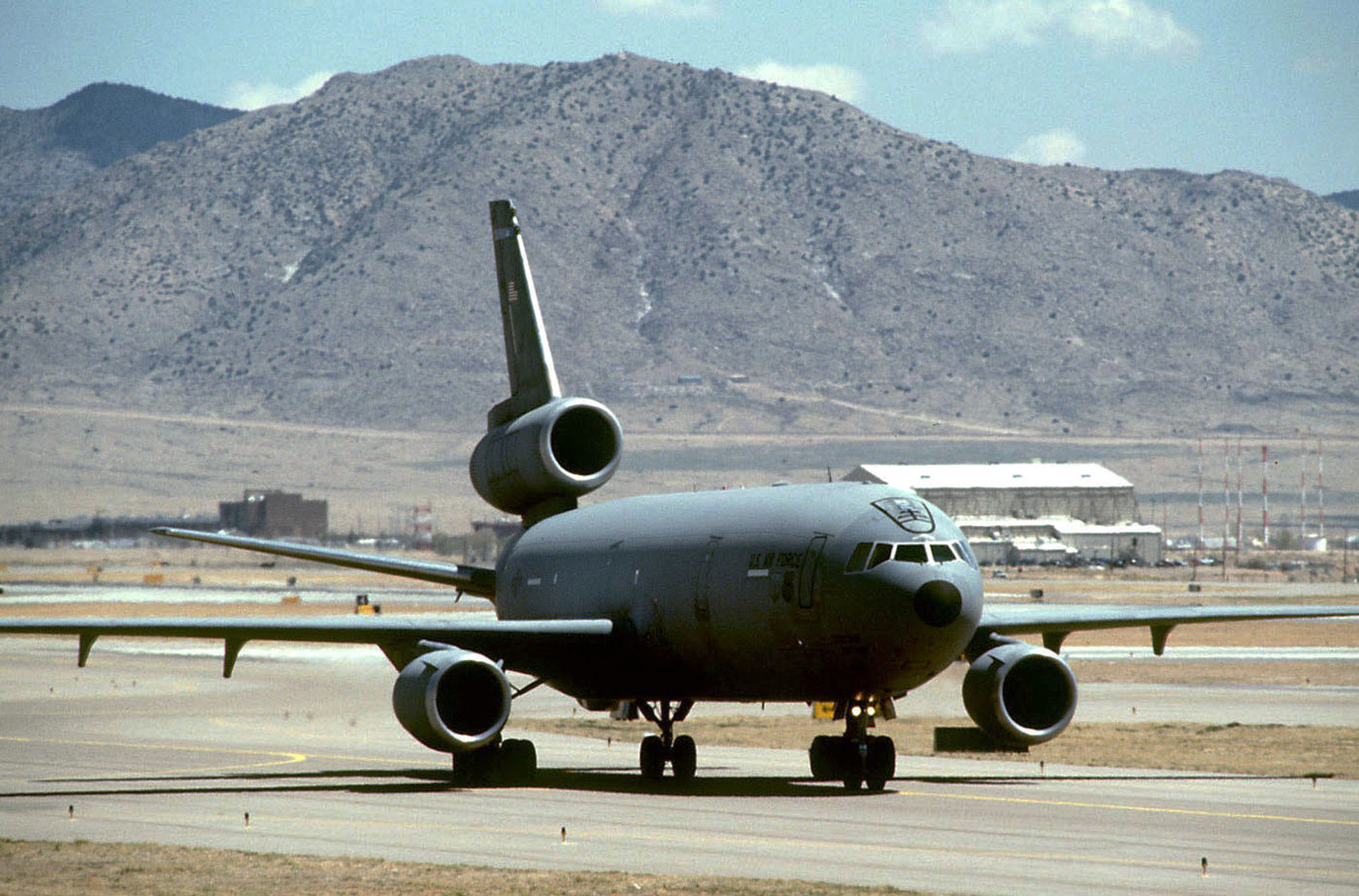 A 78th Air Refueling Squadron, McGuire Air Force Base, New Jersey KC-10 Extender arrives at International Airport/Kirtland Air Force Base, New Mexico. The KC-10 is carrying supplies and equipment from Tyndall Air Force Base for the 2nd Fighter Squadron to use during the world's largest joint service, multi-national tactical air operations exercise