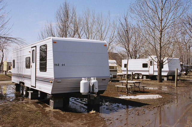 [Severe Storms/Flooding] Grand Forks, ND, May, 1997 -- FEMA travel trailers in Grand Forks. FEMA/Michael Rieger