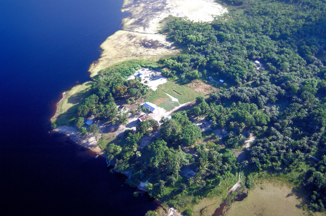 Malali, located on the upper Demerara River, the site where a school will be constructed by Army and Air Force participants in New Horizon '97, the first combined humanitarian and civic assistance exercise conducted between the United States and Guyana. Military personnel from the Air Force, Air Force Reserve & National Guard, Army, Army National Guard and Marine Corps participated in the exercise which included engineering and medical readiness training