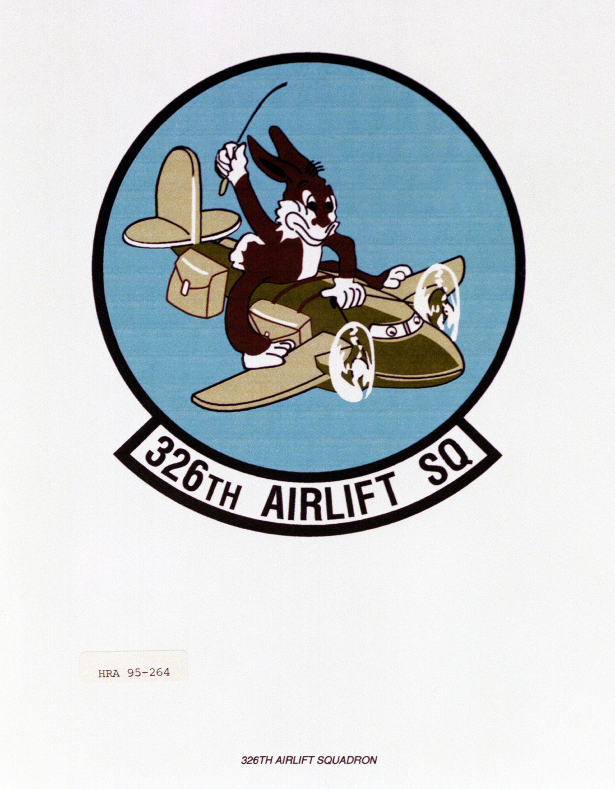 Approved insignia for the 326th Air Lift Squadron Exact date Shot Unknown