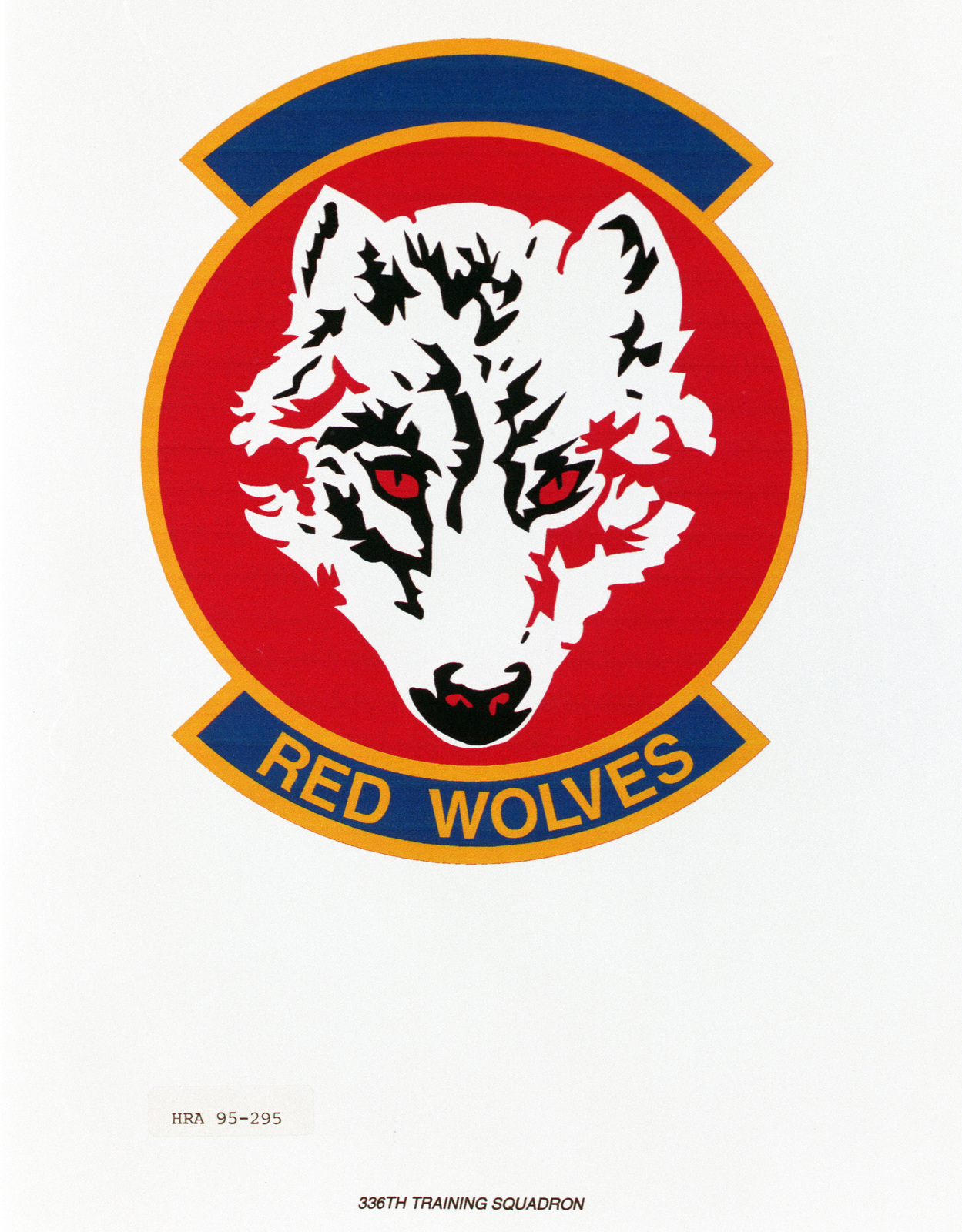 Approved insignia for the 336th Training Squadron Exact date Shot Unknown