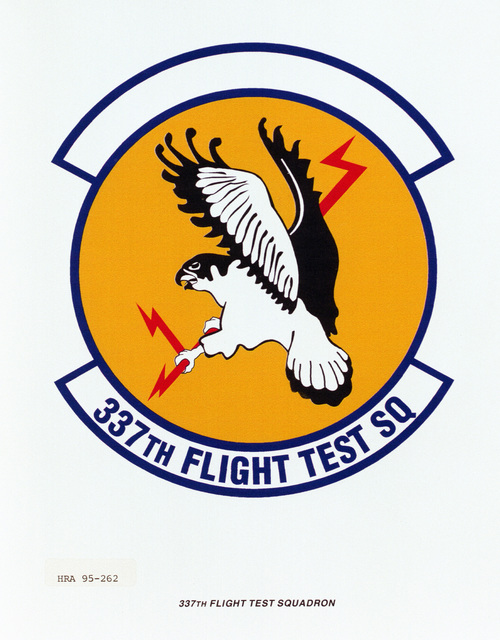 Approved insignia for the 337th Flight Test Squadron Exact date Shot Unknown