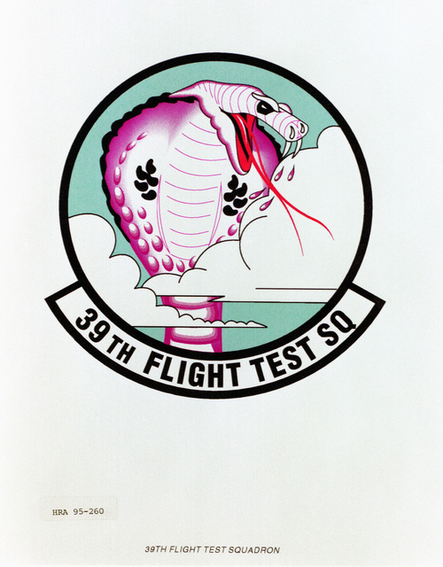 Approved insignia for the 39th Flight Test Squadron Exact date Shot Unknown