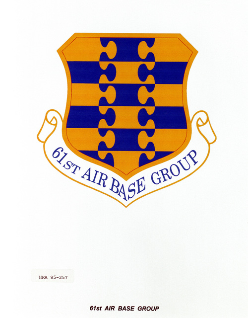 Approved insignia for the 61st Air Base Group Exact date Shot Unknown