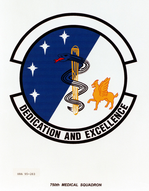 Approved insignia for the 750th Medical Squadron Exact date Shot Unknown