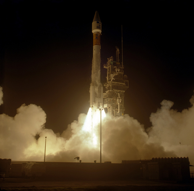 A Galaxy VIII-I commercial communications is successfully launched atop a Lockheed Martin Atlas II AS launch vehicle. The liftoff occurred at 6:52 P.M. EST on 8 Dec. from launch complex 36B at Cape Canaveral