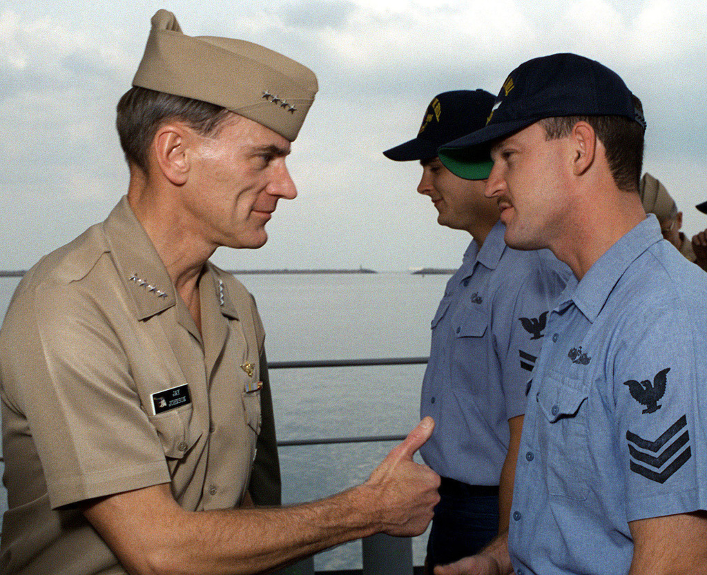 US Navy Admiral Jay L  Johnson, CHIEF of Naval Operations