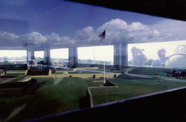 Military Photographer of the Year Winner 1998 Title: Reflections of the Past Category: Pictorial Place: Third Place PictorialTower windows reflect 171 years of history at Fort Moultrie, Sullivan's Island, S.C., on Oct. 23, 1998. The fort was built in 1809 and served as coastal defense during the American Revolution and Civil War