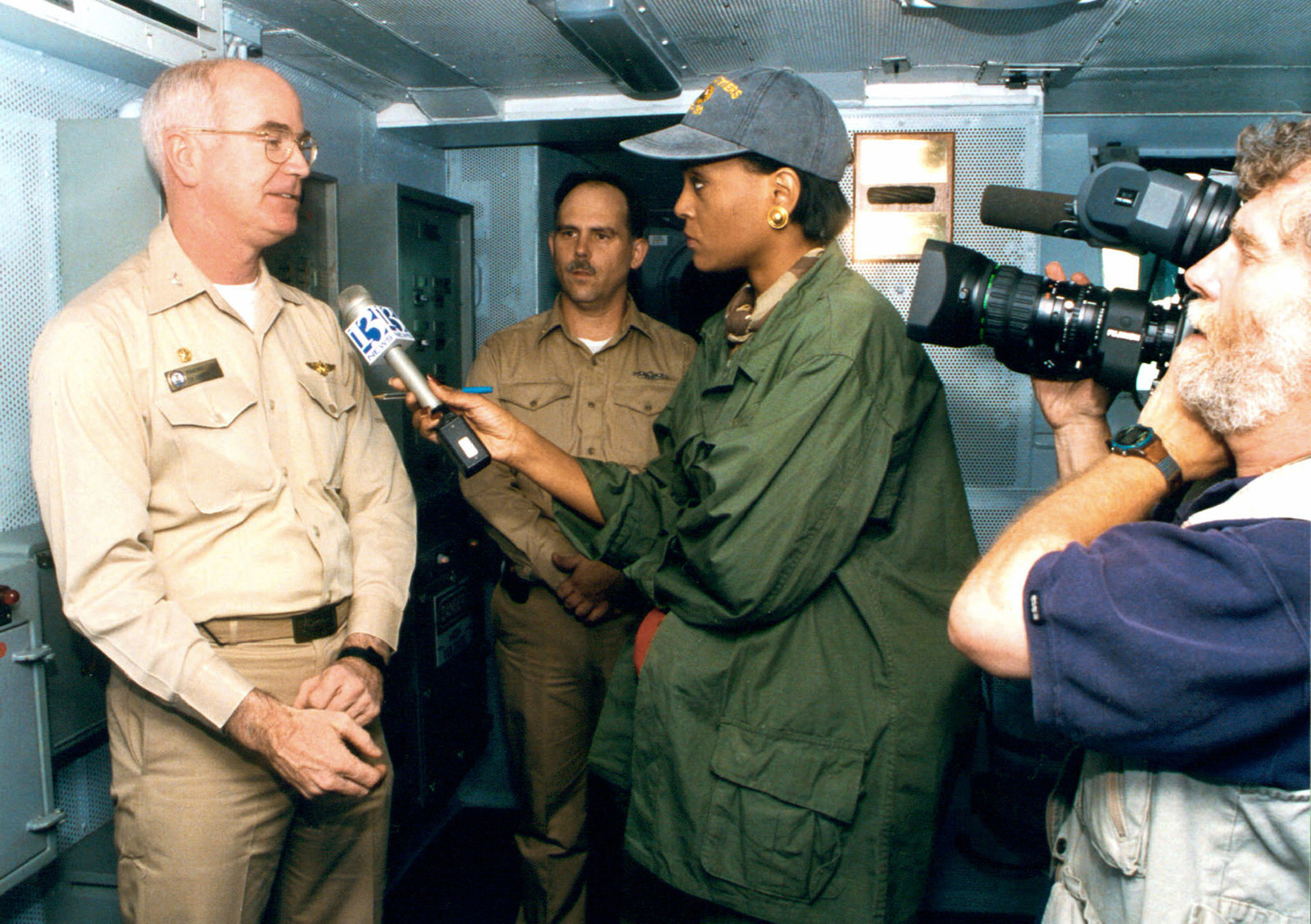 US Navy Captain Douglas R  Roulstone, Commanding Officer of the