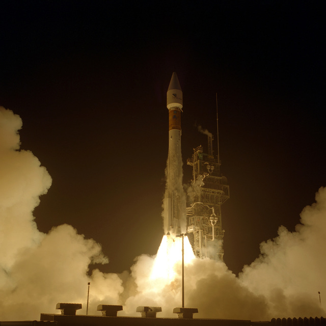 An Intelsat communications satellite is successfully launched into orbit atop a Lockheed Martin Atlas II AS launch vehicle (AC-151) from complex 36B at Cape Canaveral. Launch took place at 9:00 P.M. EST