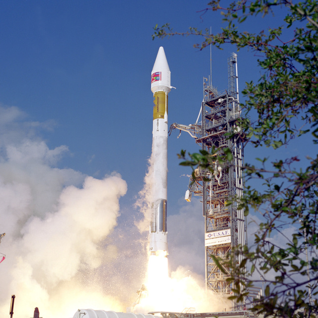 An ultra high frequency (UHF) communications satellite is successfully launched into orbit for the U.S. Navy atop a Lockheed Martin Atlas II A launch vehicle (AC-151) from complex 36A at Cape Canaveral. Launch took place at 4:32 P.M. EST