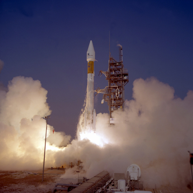 The Lockheed Martin Atlas II AS (AC-153) launch vehicle successfully carries the Intelsat 805 payload into space from complex 36A at Cape Canaveral