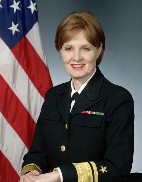 United States Navy Official photo of RADM (Upper Half, Engineering) Kathleen K. Paige, Director, Theater Air and Missile Defense and Systems Engineering/CHIEF Engineer, Assistant Secretary of the Navy for research, Development and Acquisition. As of May 1998