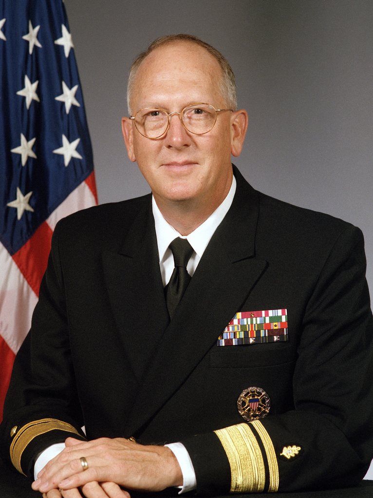 Portrait Rear Admiral (upper half) Michael L. Cowan, USN (uncovered)