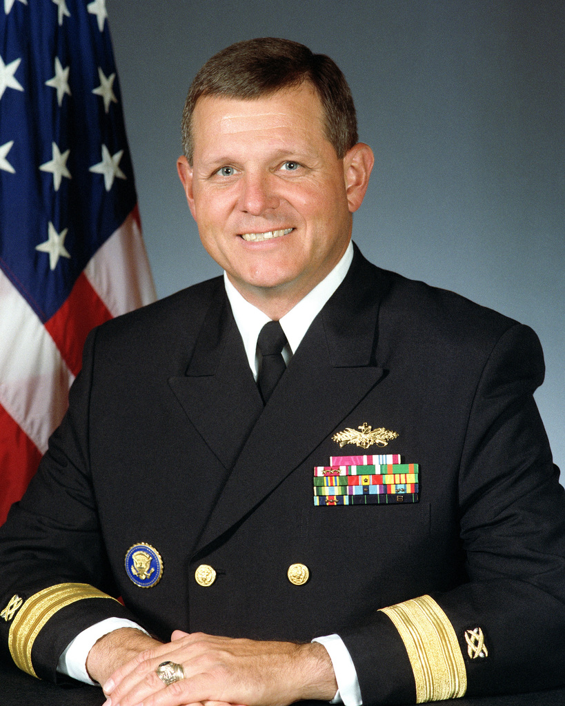 Portrait: Rear Admiral (lower half) Charles R. Kubick, USN (uncovered)