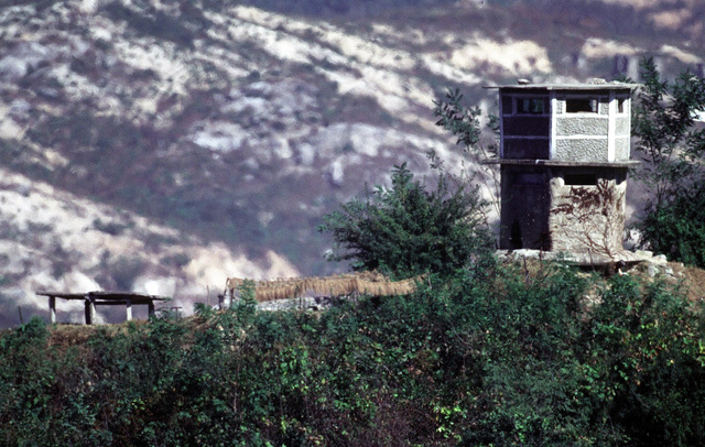 20 Oct. 1998, A North Korean observation post in the Demilitarized Zone. (U.S. Air Force photo by SENIOR AIRMAN Jeffrey Allen) (Released)