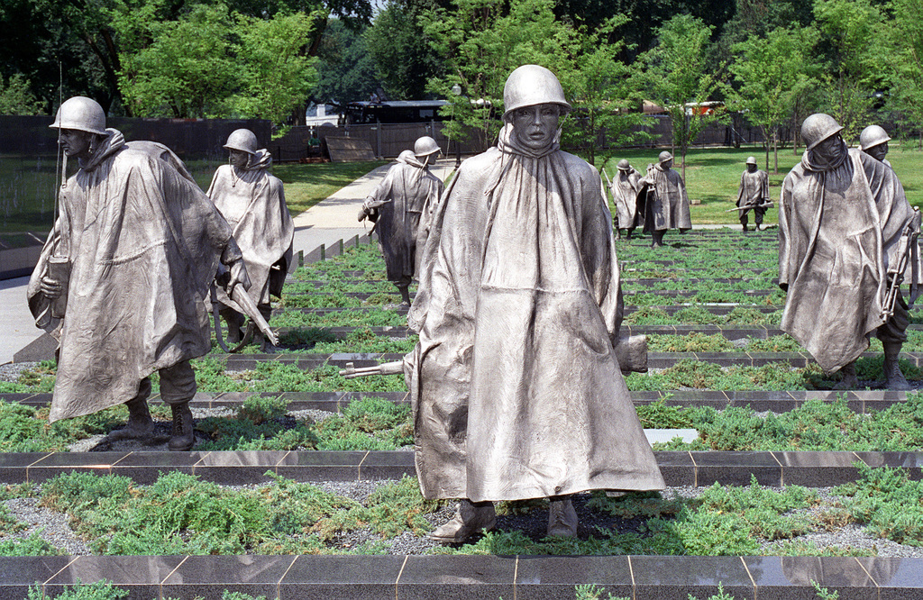 "Korean War Memorial Poster Print /""Statues of army soldiers in a park Washin"