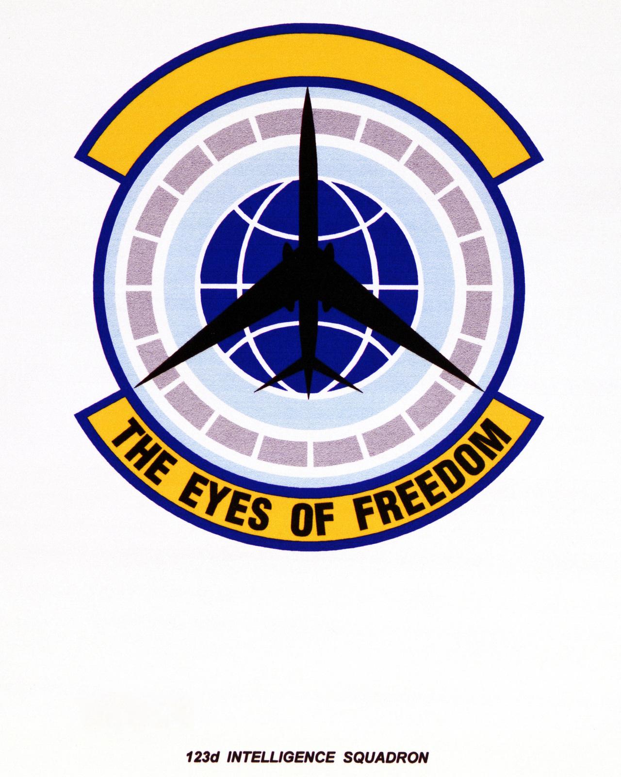 Air Force organization emblem123rd Intelligence SquadronExact Date Shot Unknown