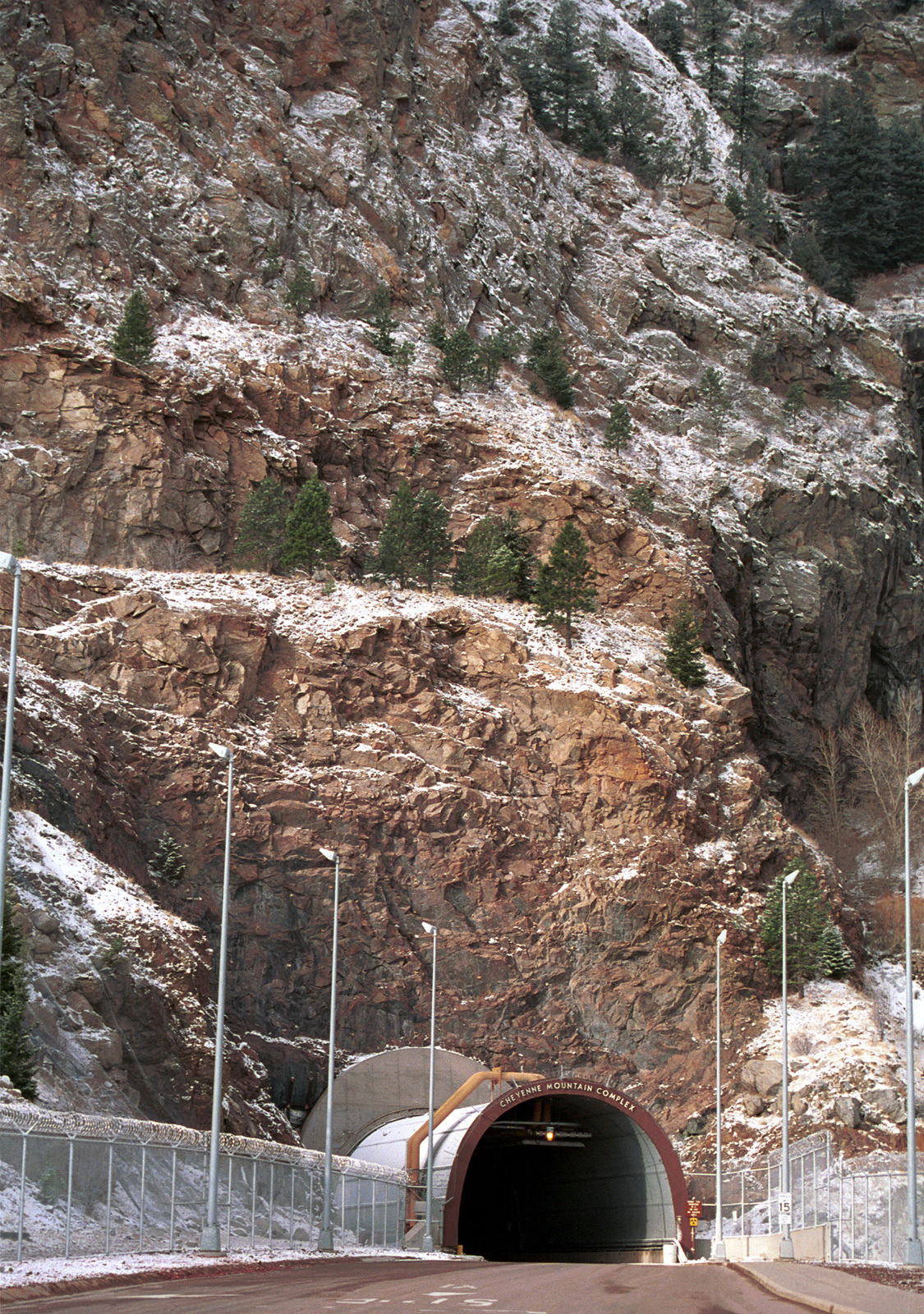 Tunnel entrance to the Cheyenne Mountain Complex, Colorado