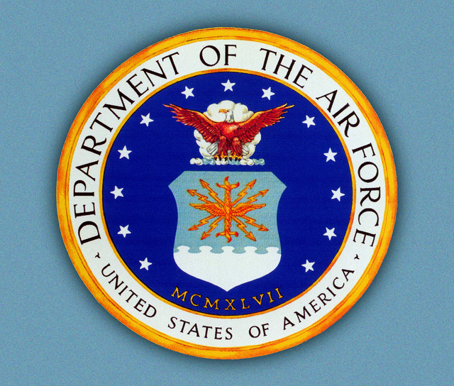 Official Seal of the U.S. Air Force. This seal may not be used in any way which implies Air Force indorsement. Permission for other than authorized DoD use must be granted in writing by Air Force Historical Research Agency, 600 Chennault Circle, Maxwell Air Force Base, Alabama 36112-6424. Commercial phone 205-953-2960; FAX 205-953-4096. DSN 493-2960; DSN FAX 493-4096