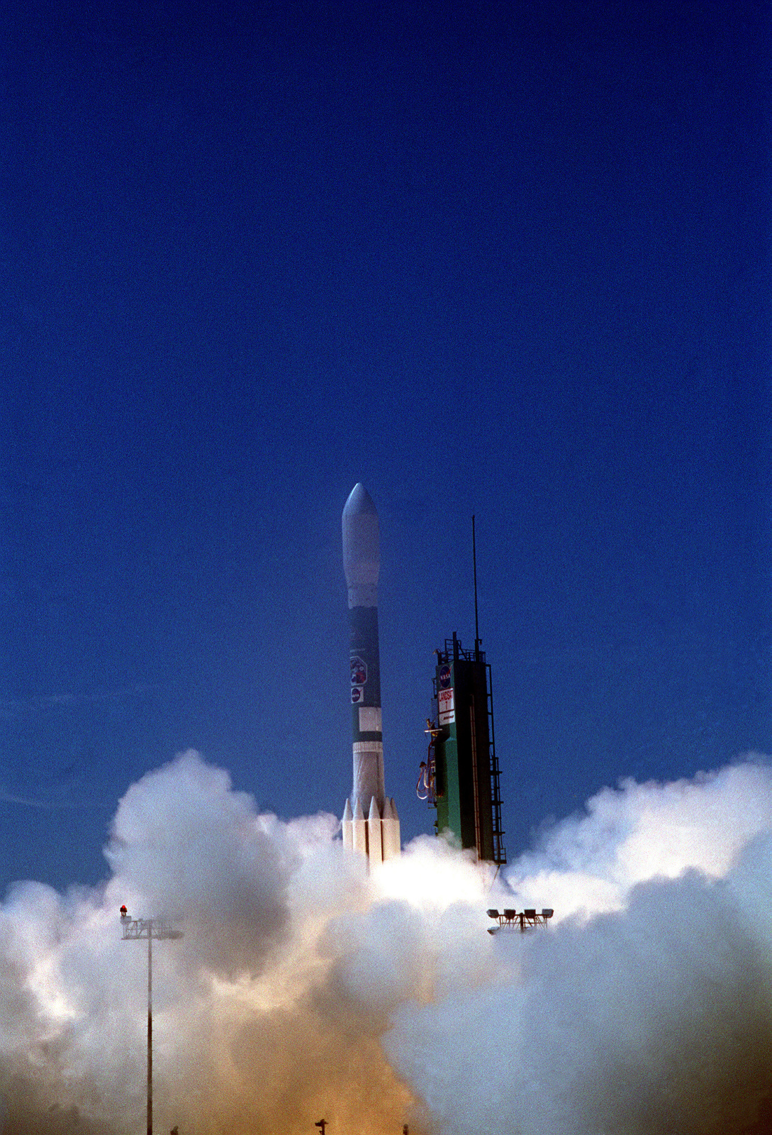 A Boeing Delta II rocket lifts off from Space Complex-2