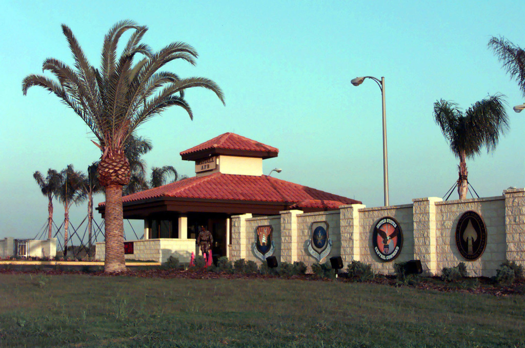 The newly completed MacDill Air Force Base, Florida, front