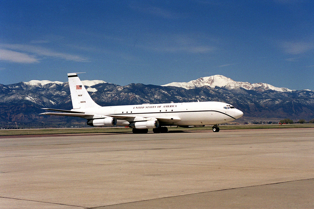 A Boeing 707 aircraft with a US Air Force designation of VC