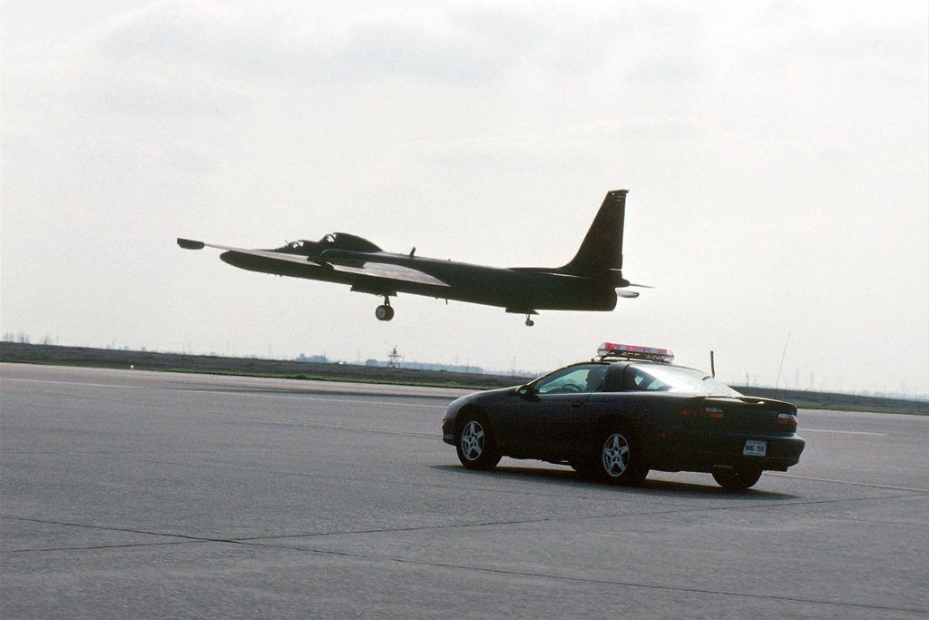 """Since the U-2 is so wild and woolly to land, a second pilot, called a """"mobile,"""" chases the plane down the runway, calling out the distance between the plane and the ground. AIRMAN Magazine article describes the U-2 as still being a major player in the nation's reconnaissance mission despite its 1950s' design and first flight in 1955. Capable of then flying over 70,000 feet, and now even higher thanks to a new F-118-101 engine and upgraded avionics the aircraft was awarded the Collier Trophy in 1998 by the National Aeronautic Association and named the U-2S. The U-2S now has digital capabilty and can transmit data instantaneously to analysts at Beale AFB by using a network of ground ..."""