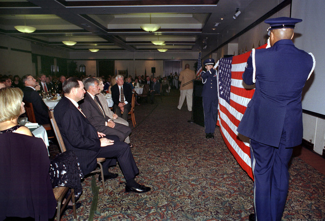 A retirement dinner was given on October 14, 1999, at the Delta Breeze Club on Travis Air Force Base, California, honoring Brigadier General Steven A. Roser. The Travis AFB Elite Honor Guard performed the flag ceremony for BGEN Roser and Mrs. Linda Roser with honor, grace and respect while hundreds of friends and military co-workers watched