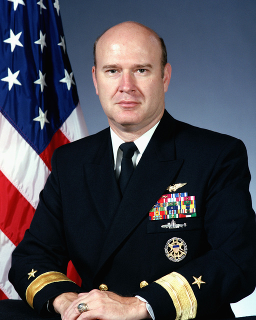 Portrait of Rear Admiral (lower half) Lewis C. Crenshaw, USN (Uncovered)