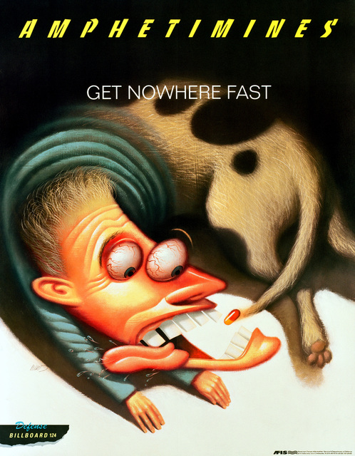 AFIS BILLBOARD POSTERS. AMPHETIMINES-GET NOWHERE FAST. (amphetamines) DEFENSE BILLBOARD #124