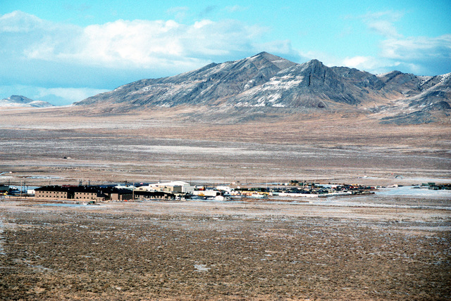 "Some folks say Oasis, Utah is a ""One-horse Town,"" without the horse. It's small, but not really a town, or on a map. It's the site of the Air Force compound at the huge and remote Utah Testing and Training Range. This image was used in the April 2000 AIRMAN Magazine article ""Home, Home on the Range"""
