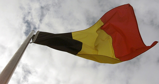 The German flag, one of the many flags represented on the testing site area, waves in the wind during the exercise COMBINED ENDEAVOR (CE) 2000. CE 2000, currently hosted by Germany, is the largest information and communication systems exercise in the world. This exercise is the sixth in a series of multinational communication interoperability workshops where military personnel from 35 nations get together for 14 days to focus on Command, Control, Communications, and Computers (C4) interoperability testing and documentation and to meet and interact on a personal level