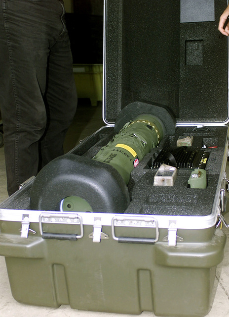 This gear, in it's stowed container, is the JAVELIN anti-tank missle training system that was issued to Marine Corps Base (MCBH), Kaneohe Bay, Hawaii, on August 31st, 2000