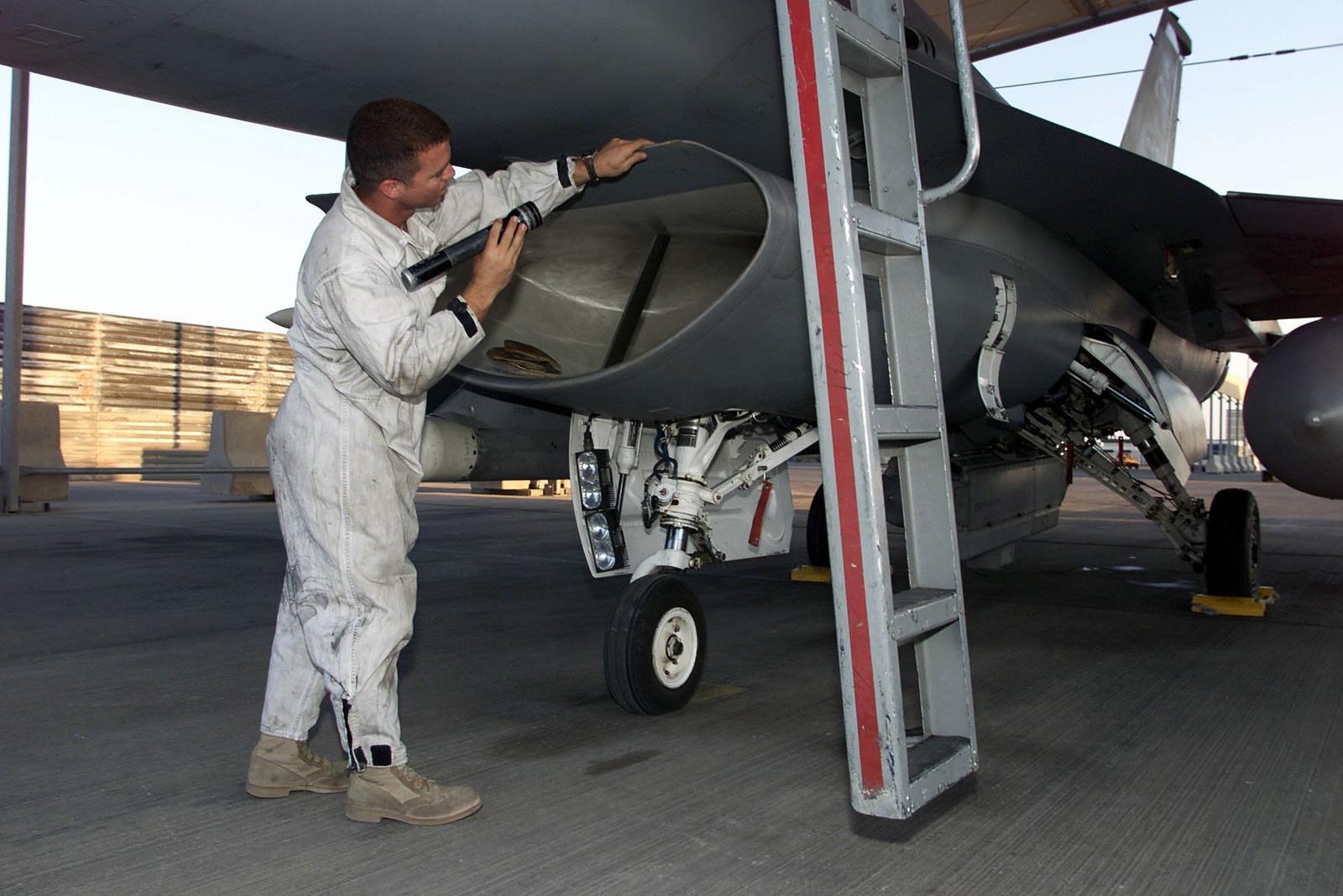 US Air Force SENIOR AIRMAN Raymond Diaz-Rios, a Crew CHIEF