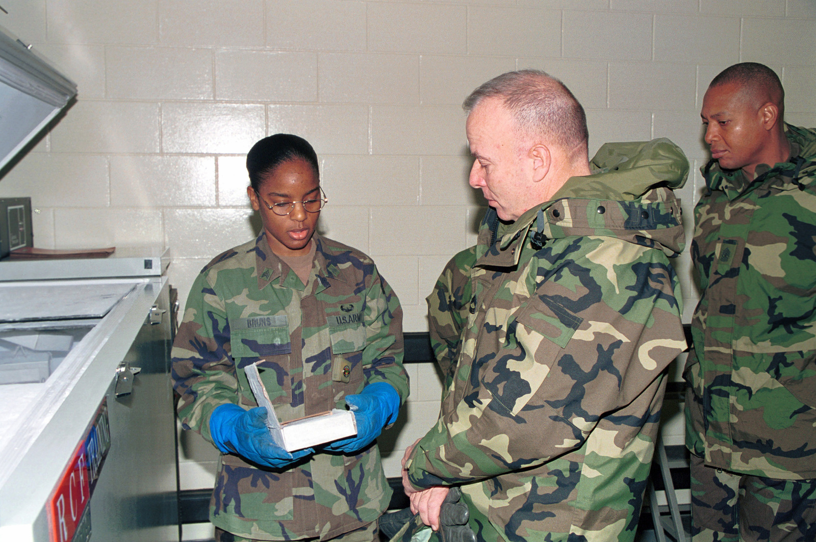 Sergeant Bruns, a blood technician from the 16th Medical Logistics