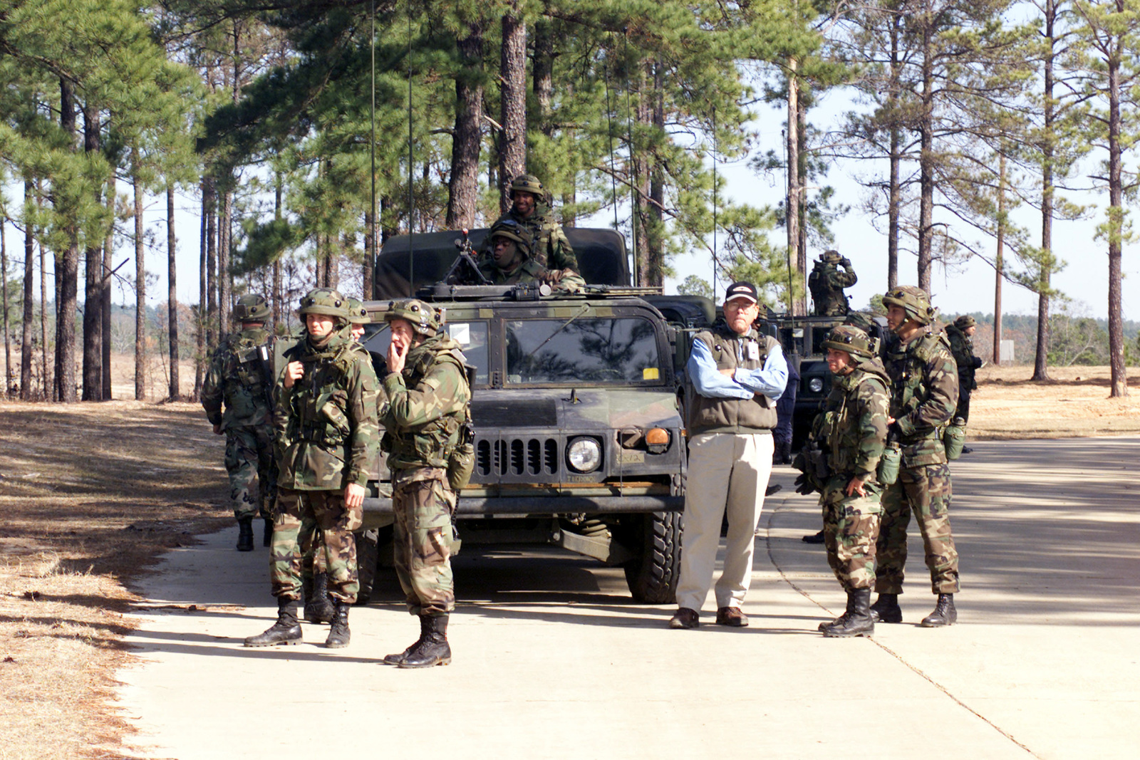Soldiers assigned to the 48th Infantry Brigade (enhanced