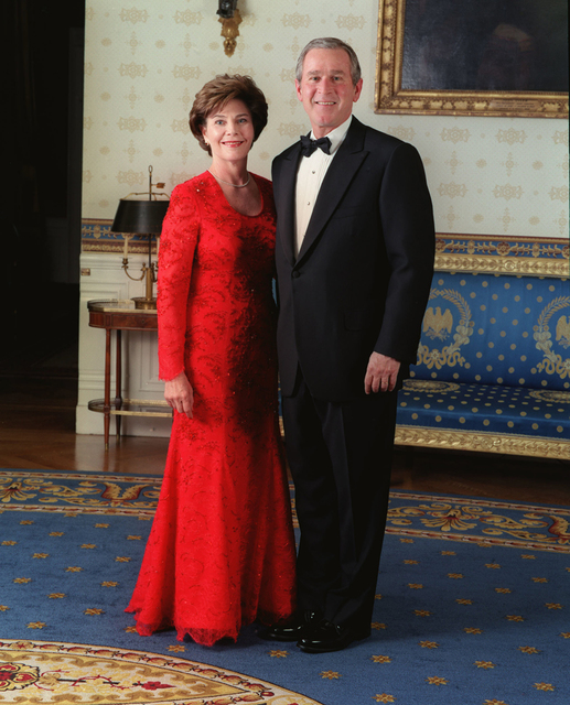 President George W. Bush and Mrs. Laura Bush Portrait