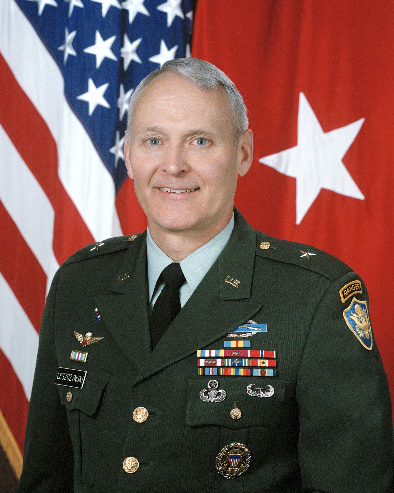 Portrait of U S  Army Brig  Gen  William J  Leszynski, Jr